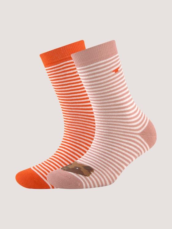 Stopper socks in two different designs - unisex - rose - 7 - TOM TAILOR