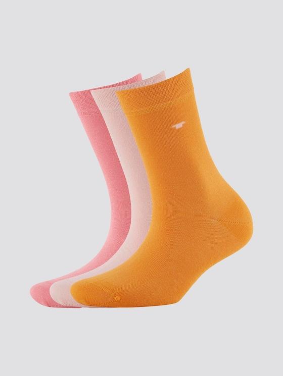 Socken im Dreierpack - unisex - powder rose - 7 - TOM TAILOR