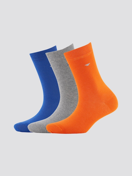 Socken im Dreierpack - unisex - ultramarin - 7 - TOM TAILOR