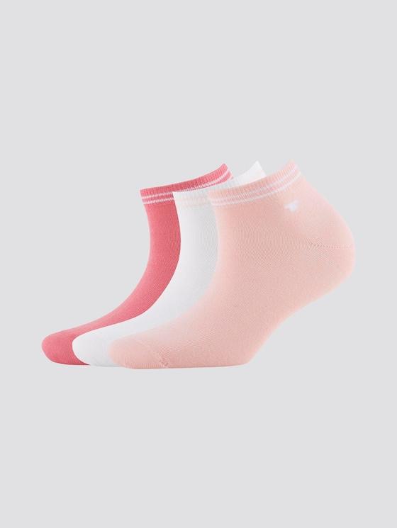 Sneakersocken im Dreierpack - unisex - powder rose - 7 - TOM TAILOR