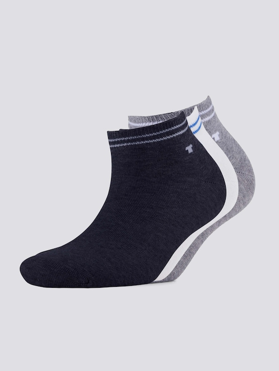 Sneakersocken im Dreierpack - unisex - ultramarin - 7 - TOM TAILOR