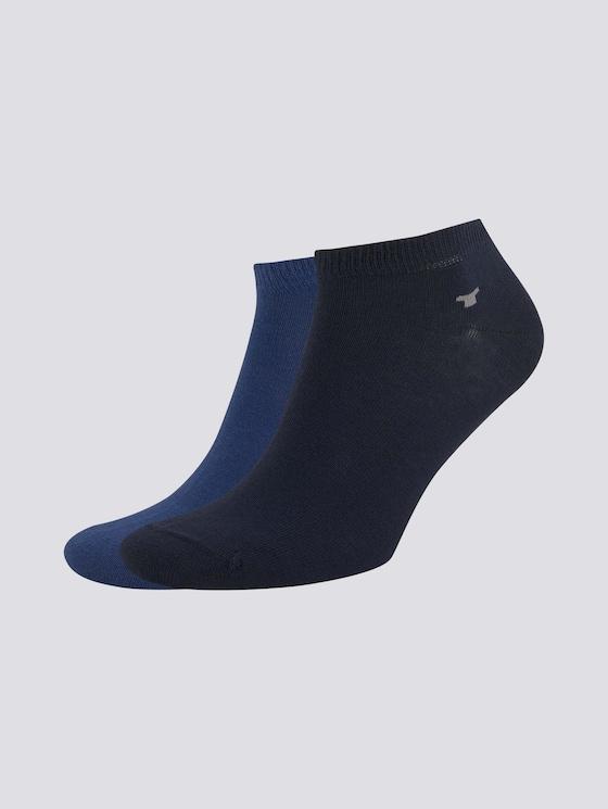 Sneaker-Socken im Doppelpack - unisex - blue depth - 7 - TOM TAILOR