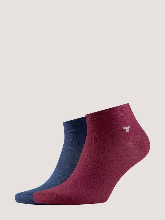 Sneaker-Socken im Doppelpack - unisex - windsor red - 7 - TOM TAILOR