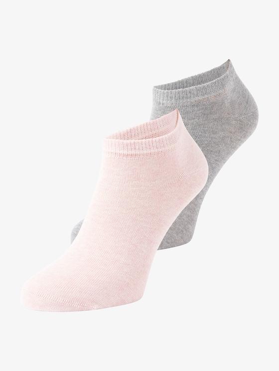 Sneakersokken in dubbelverpakking - uniseks - rose - 7 - TOM TAILOR