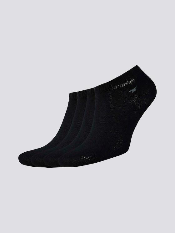 Viererpack Sneaker Socken - unisex - black - 7 - TOM TAILOR