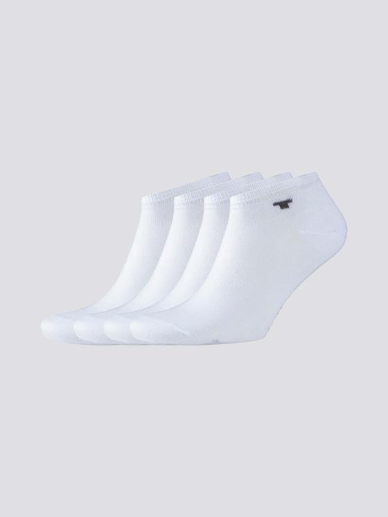 Viererpack Sneaker Socken - unisex - white - 7 - TOM TAILOR
