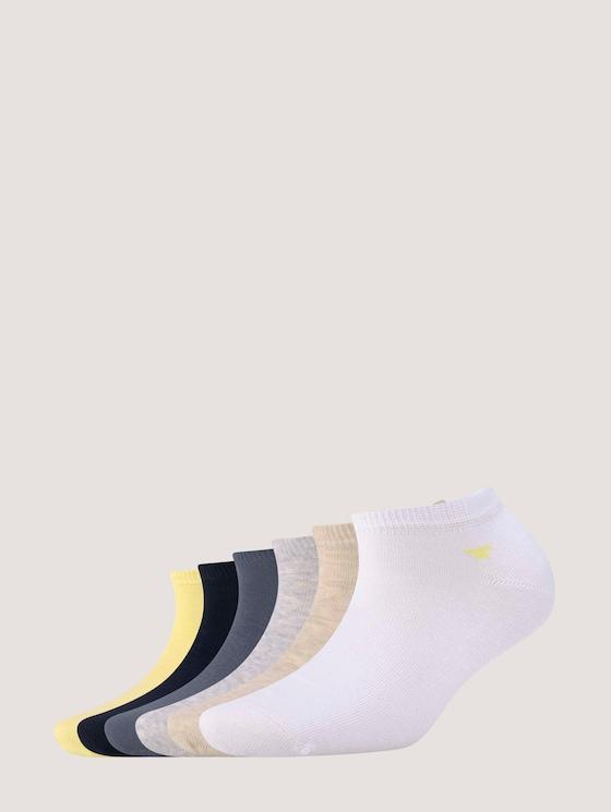 Sneakersocken im Sechserpack - Frauen - yellow cream - 7 - TOM TAILOR