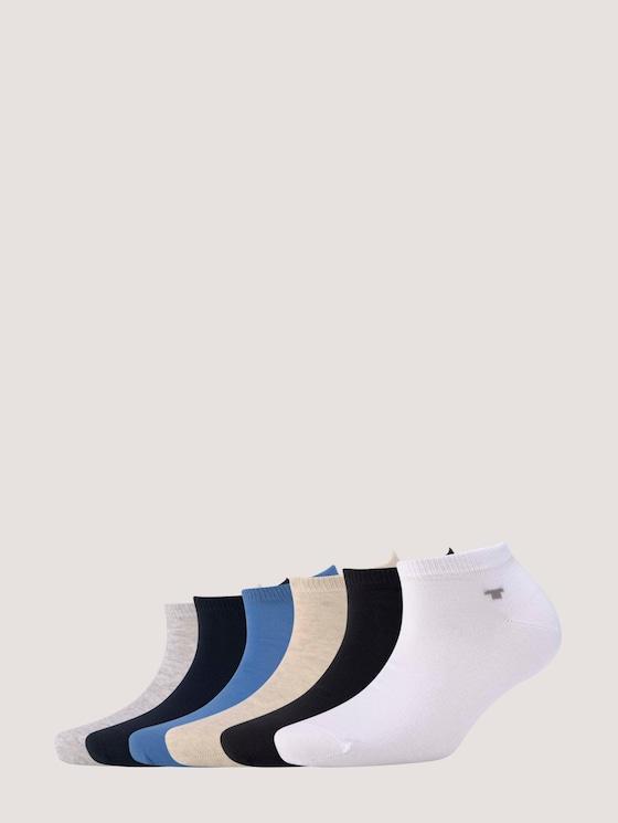 Sneakersocken im Sechserpack - Frauen - light grey melange - 7 - TOM TAILOR