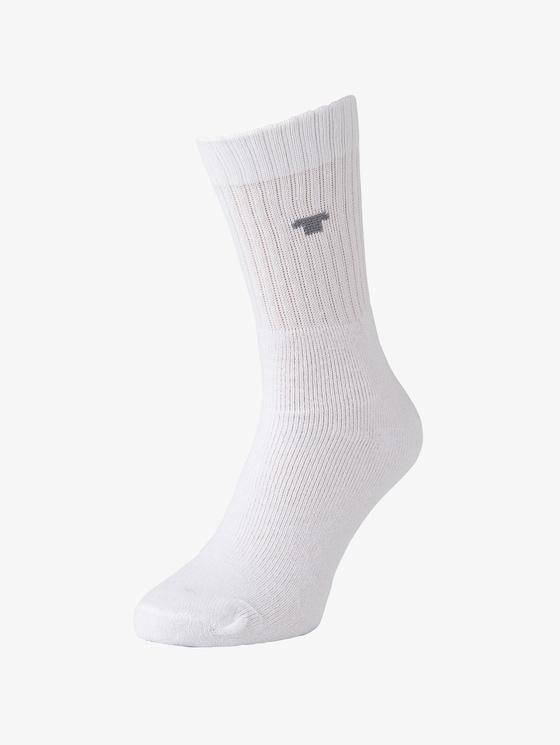 nos sport socks 3pcs - Men - white - 1 - TOM TAILOR