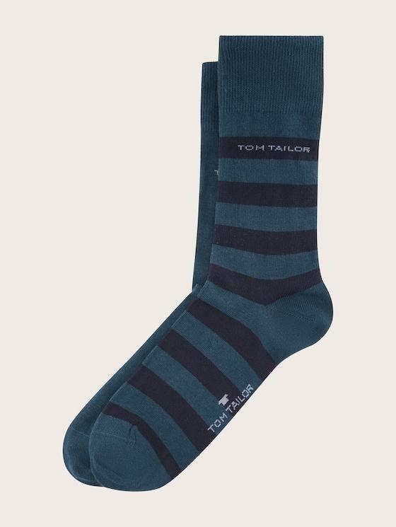 Socken im Doppelpack - Männer - dark petrol - 7 - TOM TAILOR