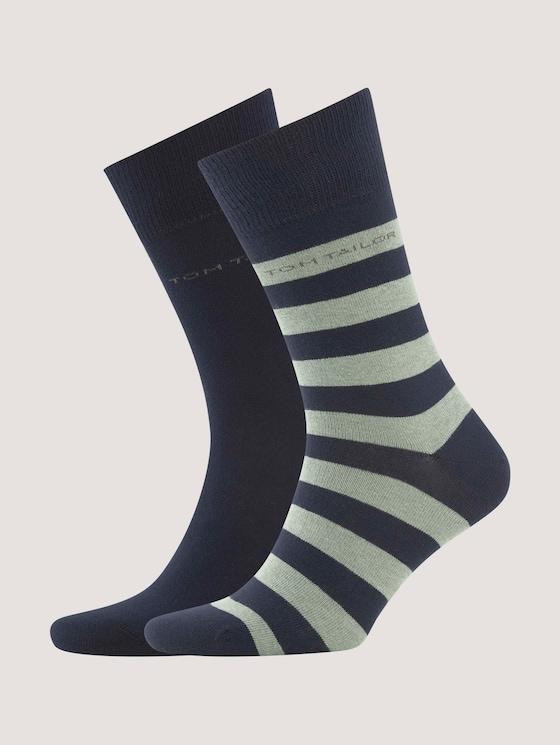 Socken im Doppelpack - Männer - shale green - 7 - TOM TAILOR