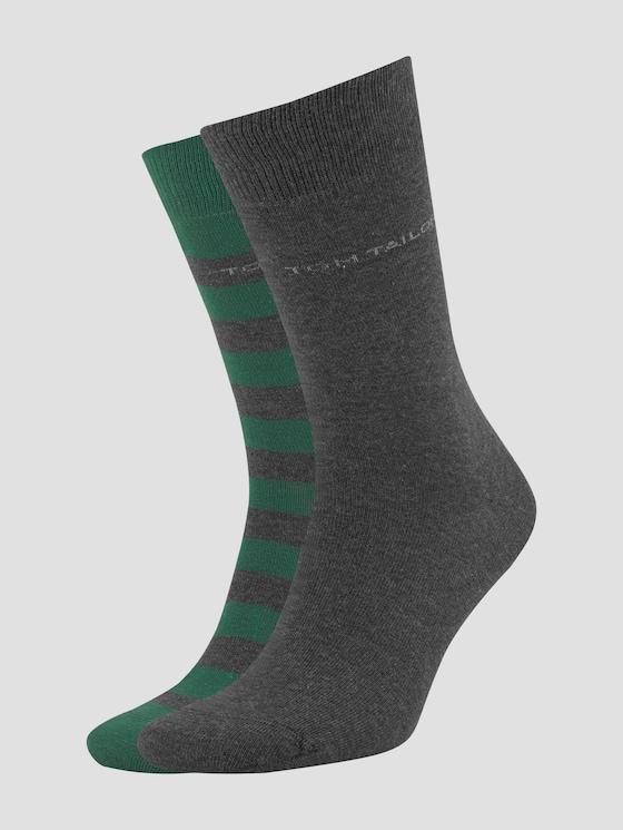 Socken im Doppelpack - Männer - dark green - 7 - TOM TAILOR