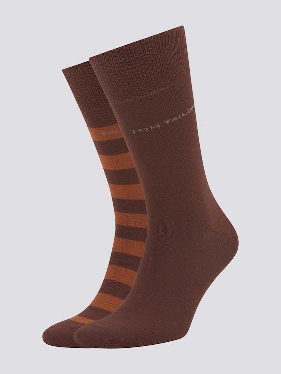 Socken im Doppelpack - Männer - dark mahagony - 7 - TOM TAILOR