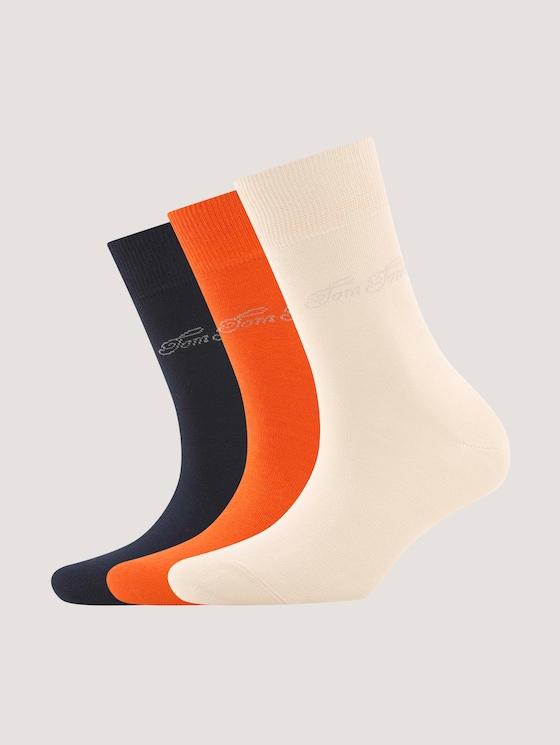 Basic socks in plain colours in a pack of three - Women - dark navy - 7 - TOM TAILOR