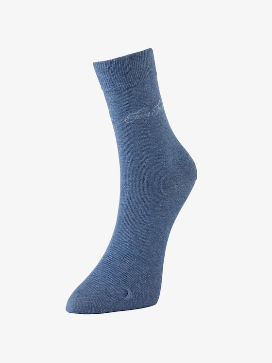 sokken per twee paar verpakt - Vrouwen - light denim melange - 1 - TOM TAILOR