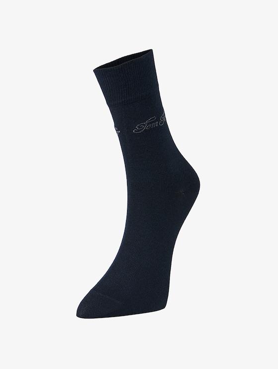 sokken per twee paar verpakt - Vrouwen - dark navy - 1 - TOM TAILOR