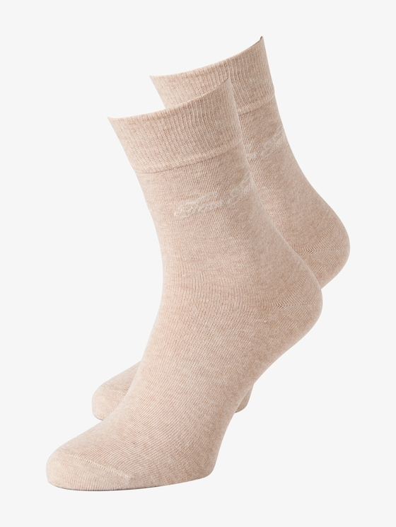 basic socks double pack - Women - beige - 7 - TOM TAILOR