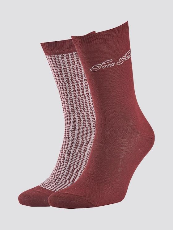 Socken im Doppelpack - Frauen - port - 7 - TOM TAILOR