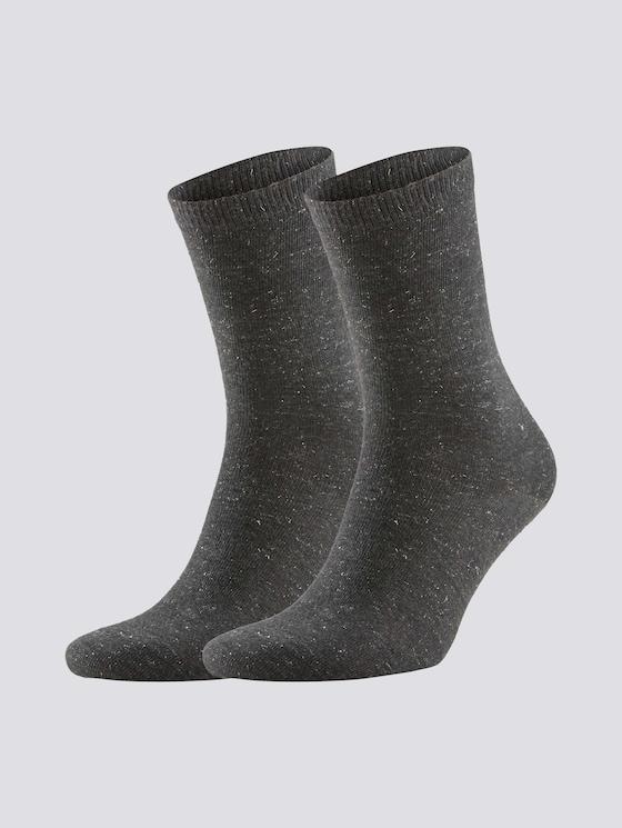 Sokken in dubbelverpakking - Vrouwen - anthracite melange - 7 - TOM TAILOR