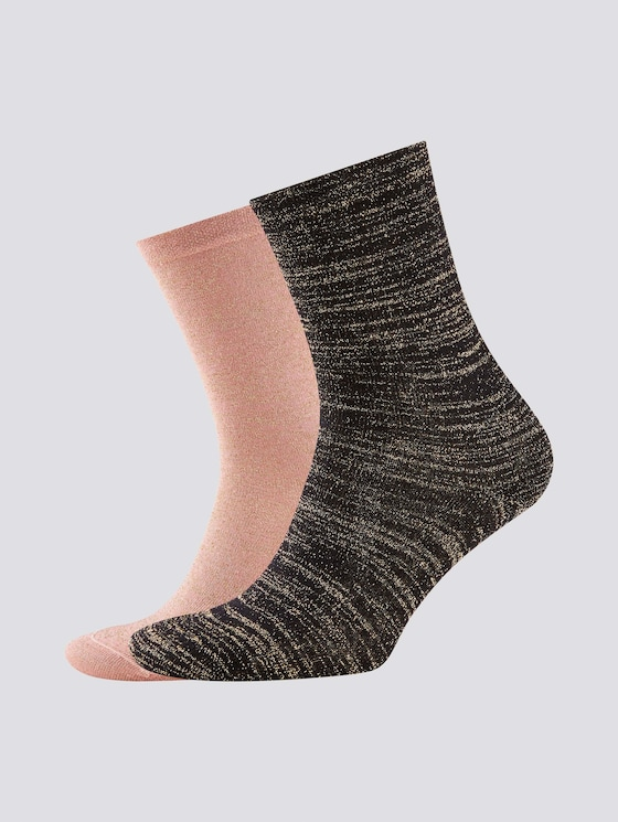 Glitzerfaden Socken im Zweierpack - Frauen - ash rose - 7 - TOM TAILOR