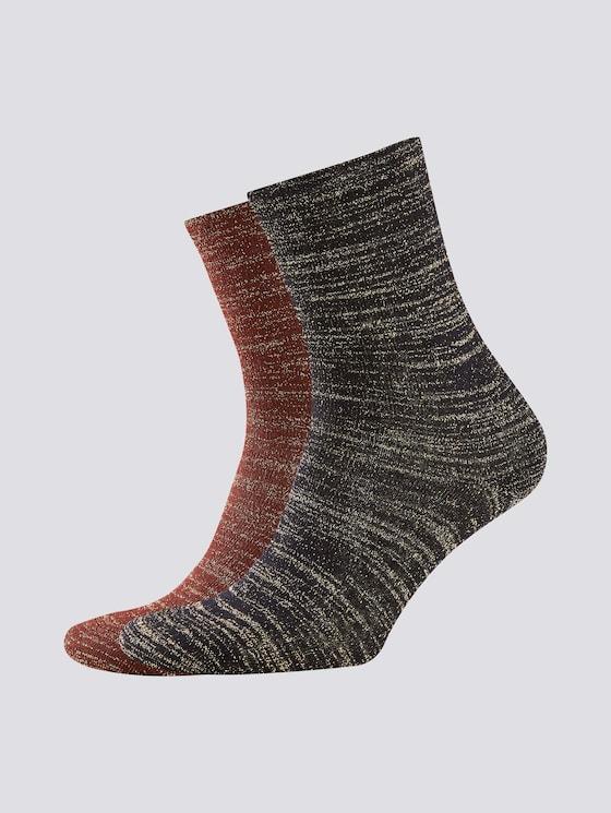 Glitzerfaden Socken im Zweierpack - Frauen - bruenette - 7 - TOM TAILOR