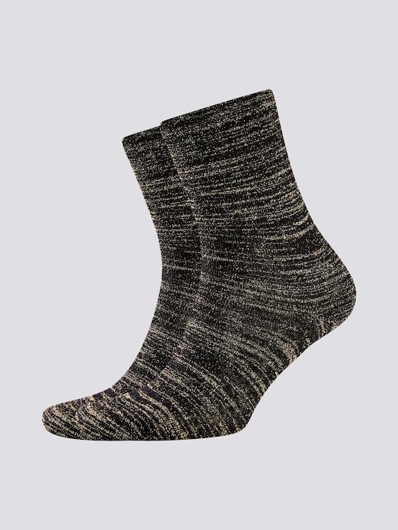 Glitter garen sokken in pak van twee - Vrouwen - black - 7 - TOM TAILOR