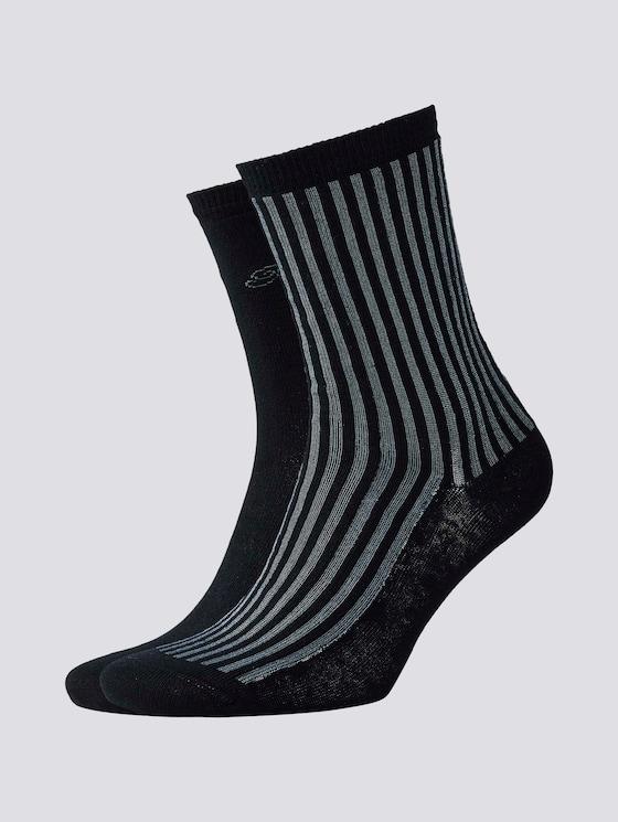 Socken mit Glanzstreifen im Zweierpack - Frauen - black - 7 - TOM TAILOR