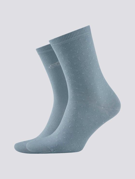 polka dot socks in a pack of two - Women - smoke blue - 7 - TOM TAILOR