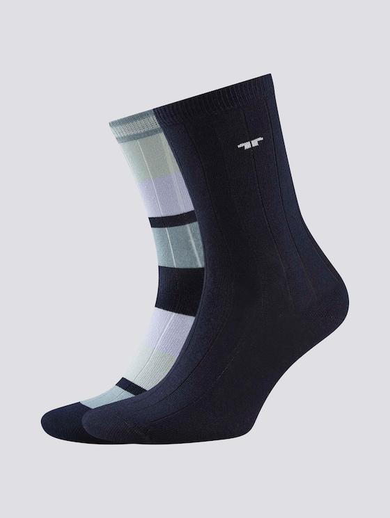Ripp-Socken im Doppelpack - Frauen - smoke blue - 7 - TOM TAILOR
