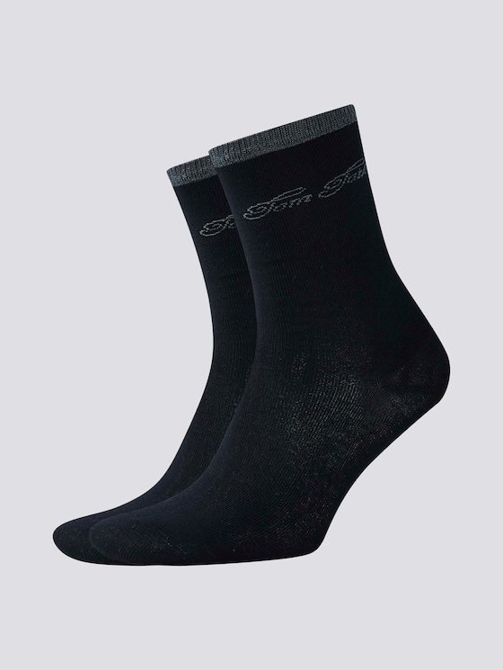 Soft modal socks in a twin pack - Women - black - 7 - TOM TAILOR