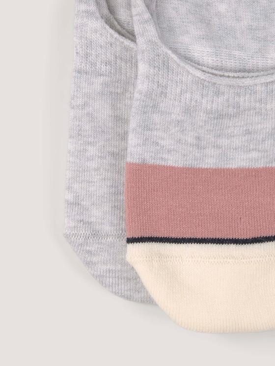 Colorblocking sokken in een pakket van twee