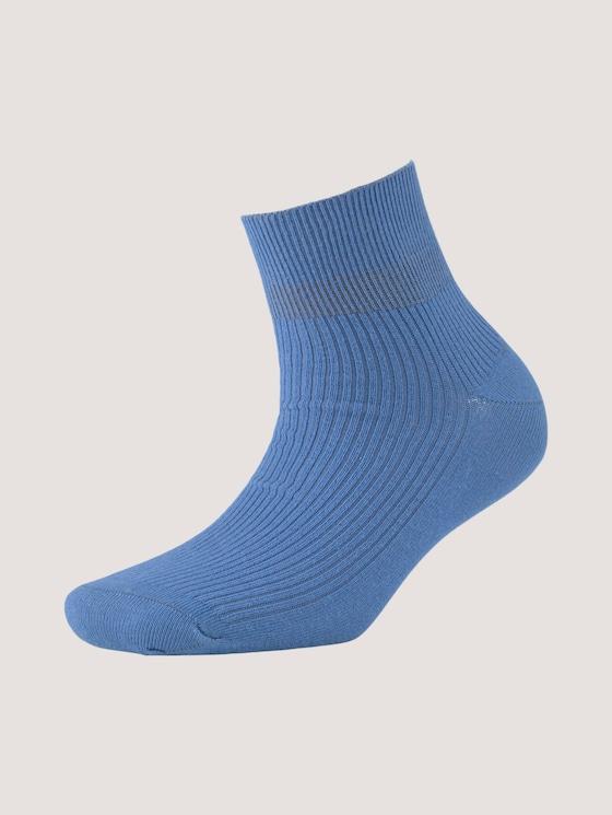 Kurze Socken mit Rippstruktur - Frauen - bright cobalt - 7 - TOM TAILOR