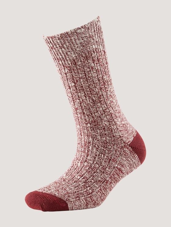 Textured socks in a mouline design - Women - port - 7 - TOM TAILOR