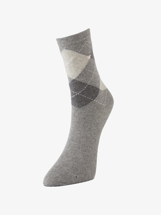 sokken per twee paar verpakt - Vrouwen - light grey melange - 1 - TOM TAILOR