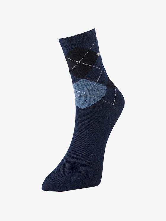 Socken im Doppelpack - Frauen - indigo melange - 1 - TOM TAILOR
