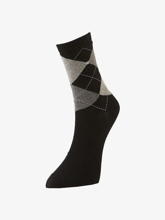 Socken im Doppelpack - Frauen - black - 1 - TOM TAILOR