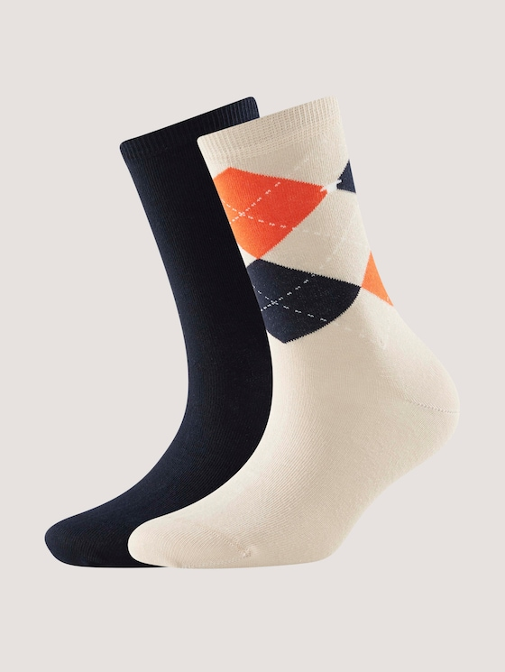 TT women socks 2pcs argyle - Women - cream - 7 - TOM TAILOR