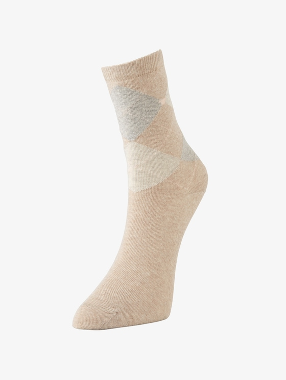 TT women socks 2pcs argyle - Women - beige - 1 - TOM TAILOR