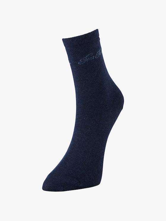 Pack van 2 sokken met logo belettering