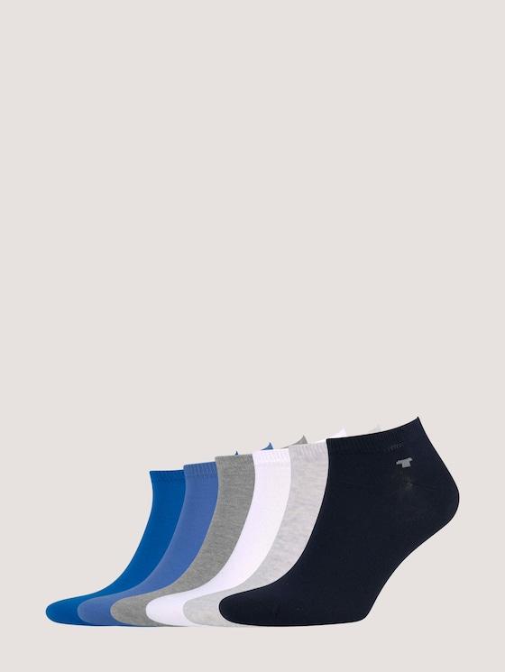 Sneaker sokken in zes pack - Mannen - dark navy - 7 - TOM TAILOR