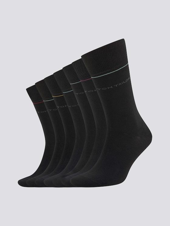 Socken in einer 7-Tage-Box - Männer - black - 7 - TOM TAILOR