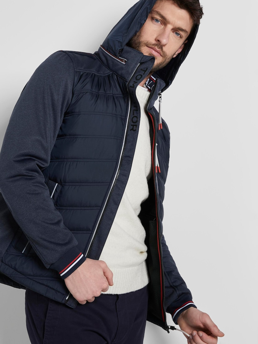 Tom Tailor Hybrid Fleece Jacke blau